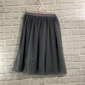 Stylish Bride Accents Tulle Skirt Gray Lined Size Small Elastic Waistband